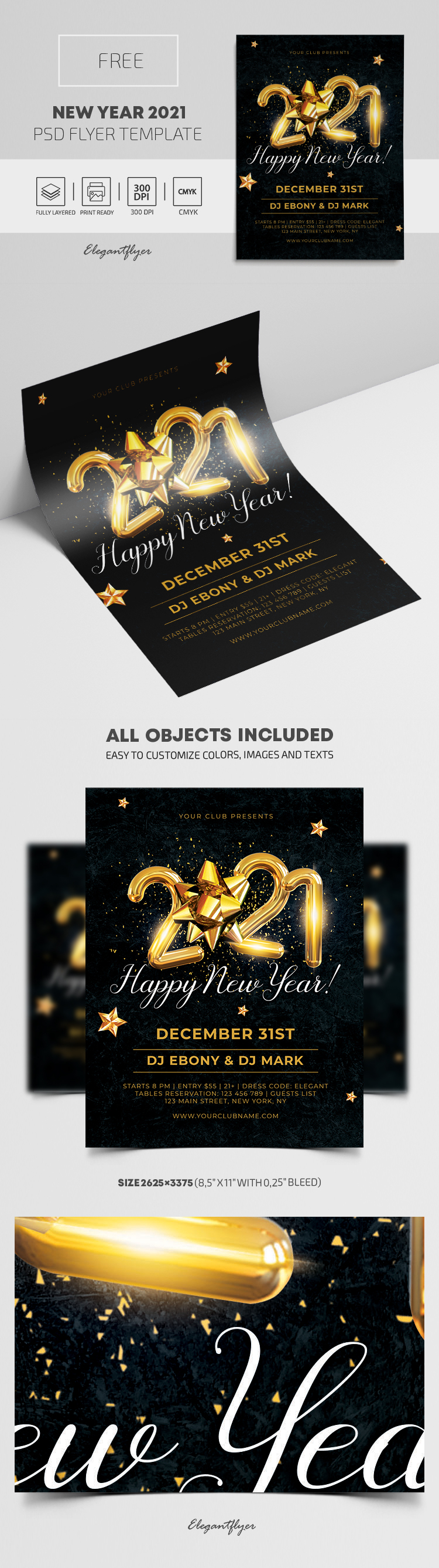 New Year 2021 – Free Flyer PSD Template