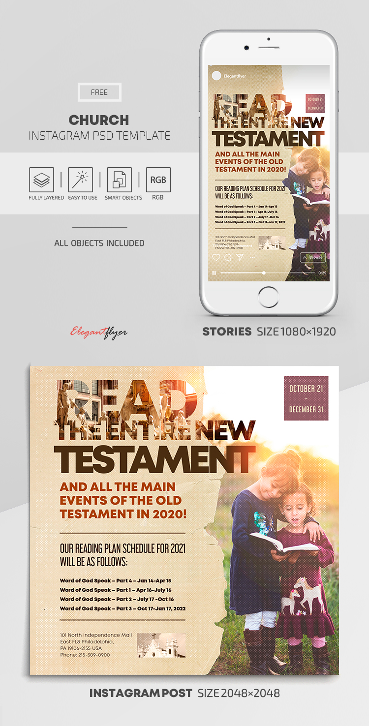 Church – Free Instagram Stories Template in PSD + Post Template