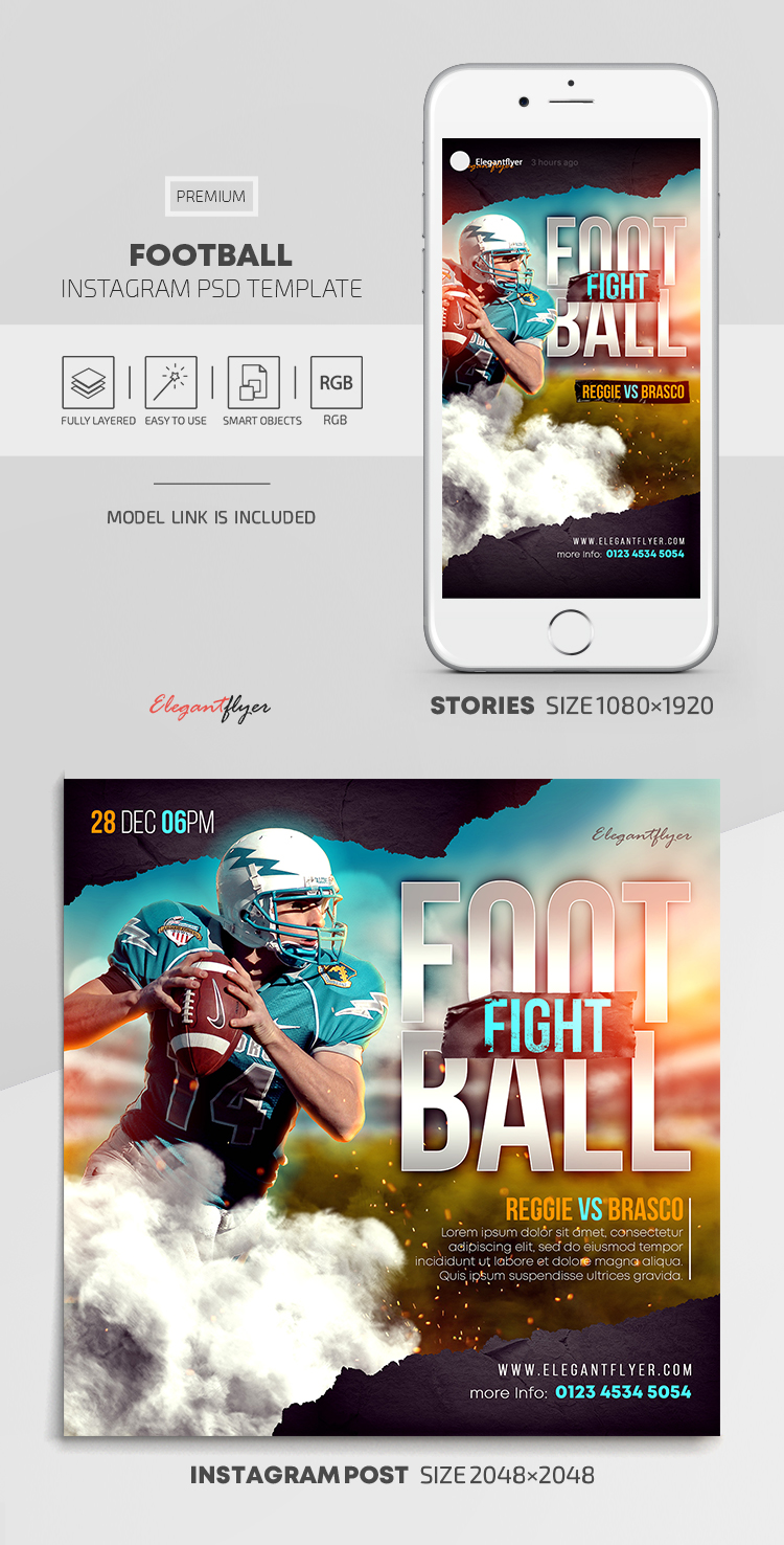 Football – Instagram Stories Template in PSD + Post Templates