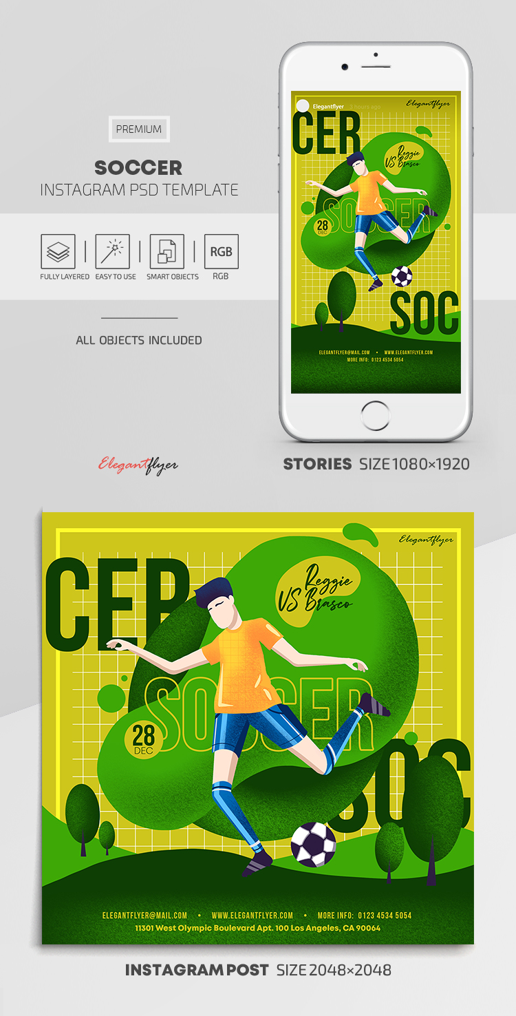 Soccer – Instagram Stories Template in PSD + Post Templates