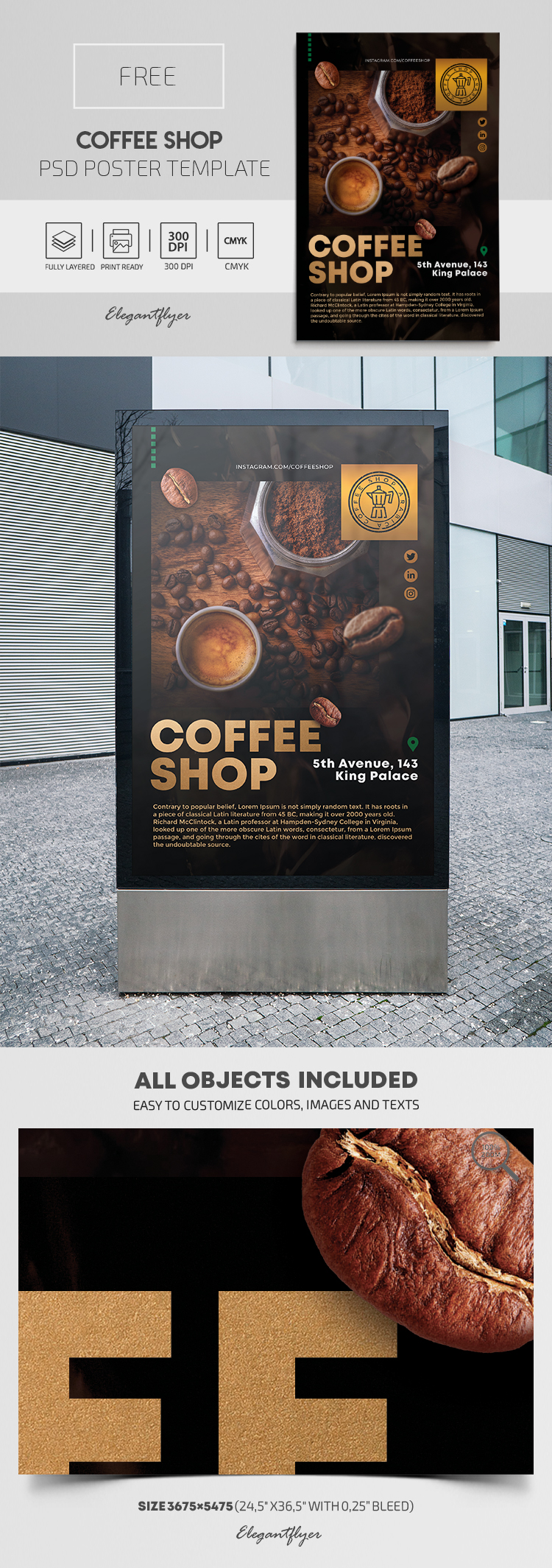 Coffee Shop – Free PSD Poster Template