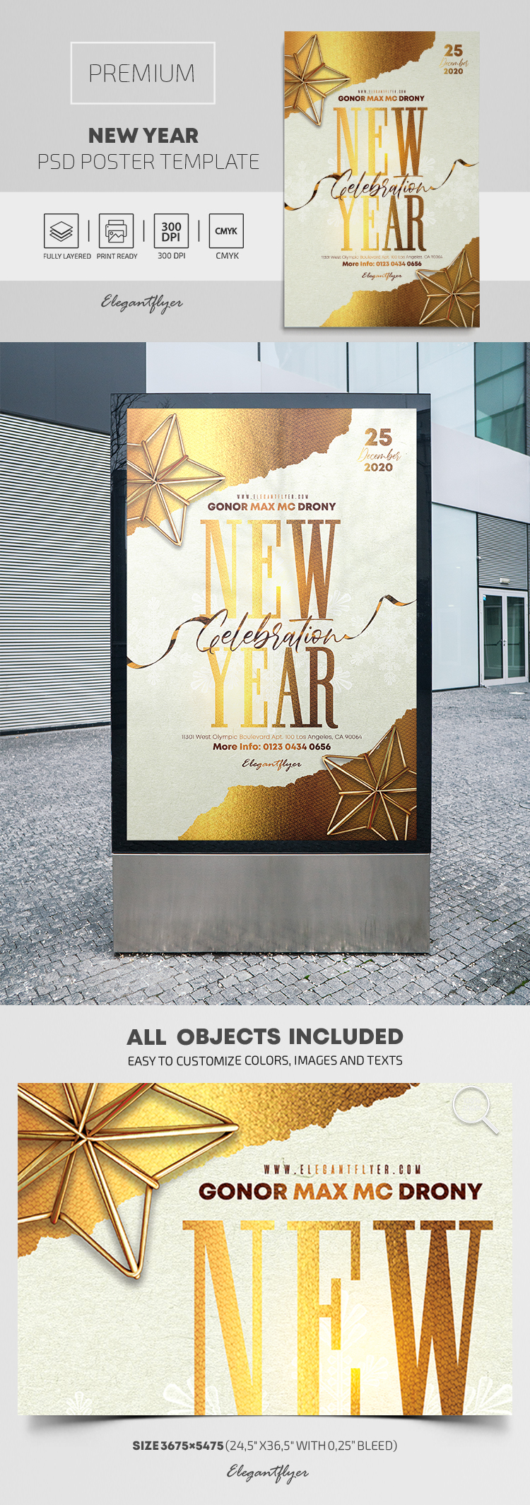 New Year – Premium PSD Poster Template