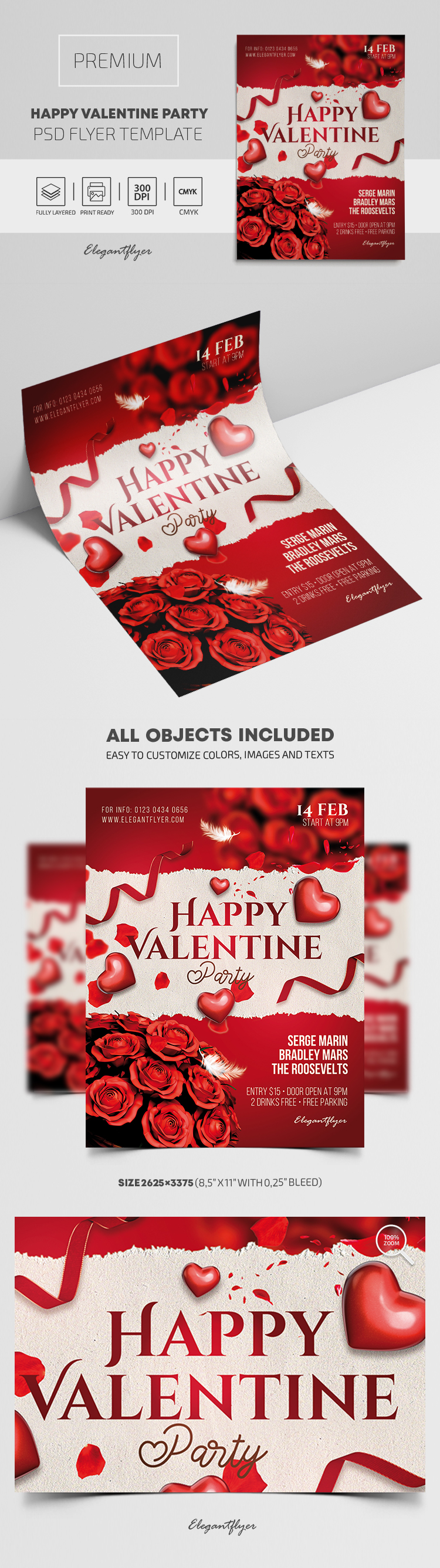Happy Valentine Party – Premium PSD Flyer Template