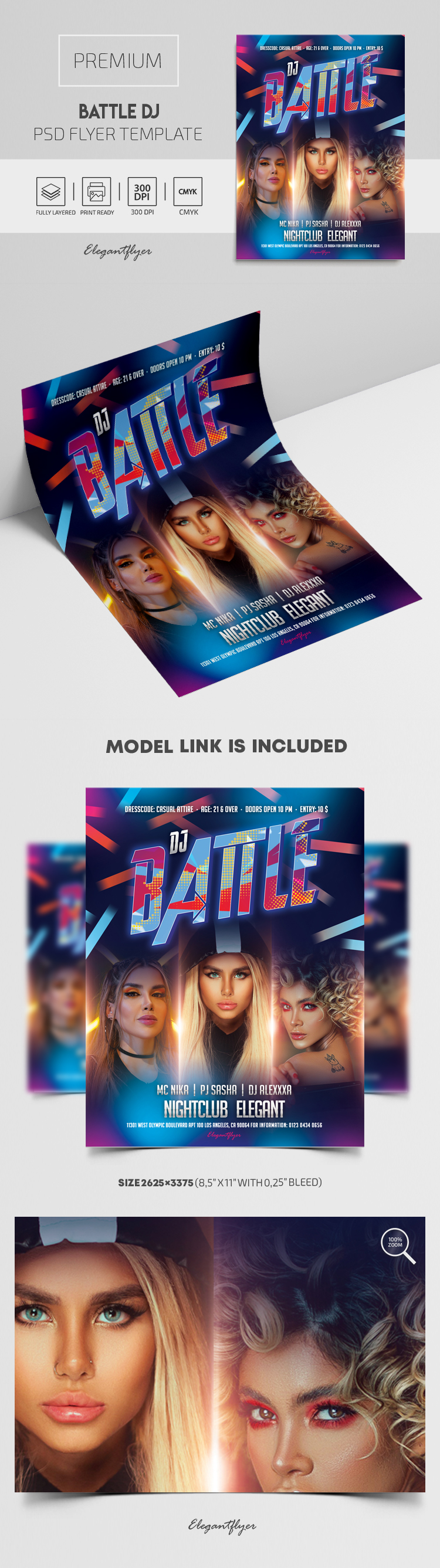 Battle DJ – Premium PSD Flyer Template