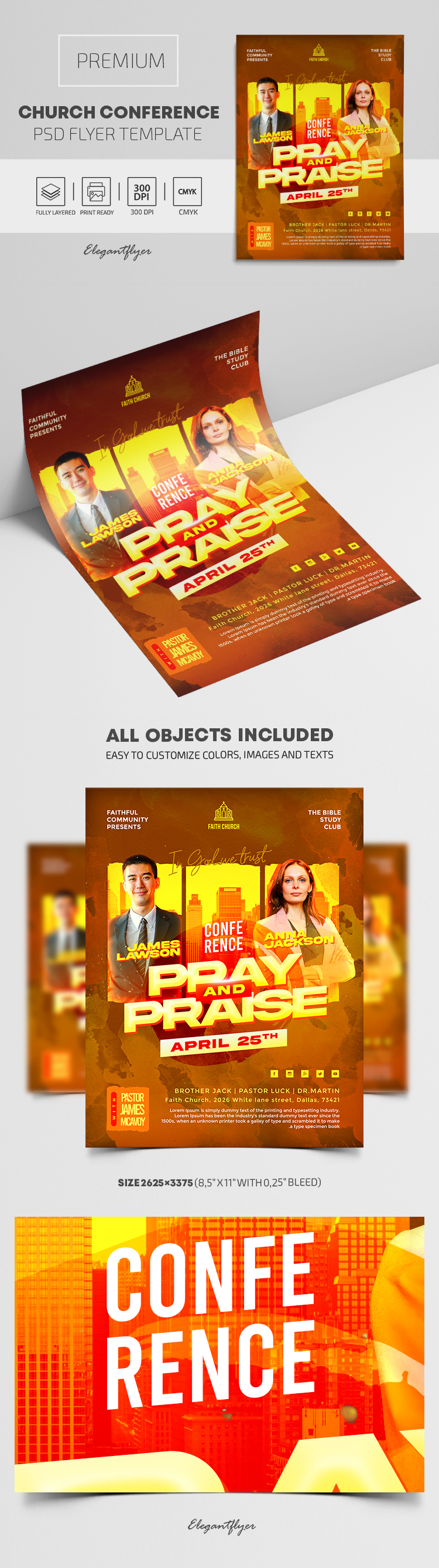 Church Conference – Premium PSD Flyer Template