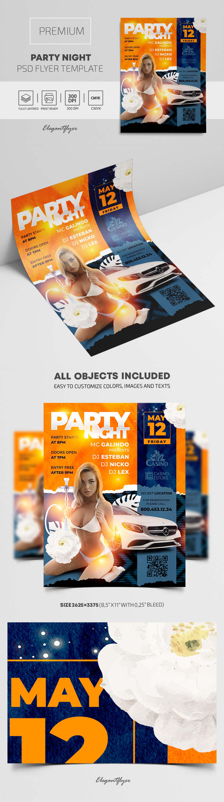 Party Night – Premium PSD Flyer Template