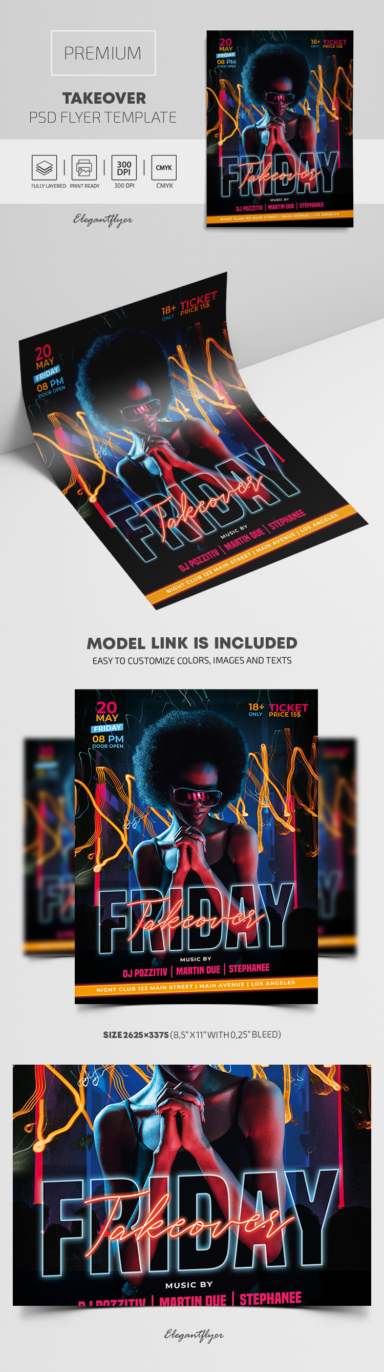 Friday Takeover Party – Premium PSD Flyer Template