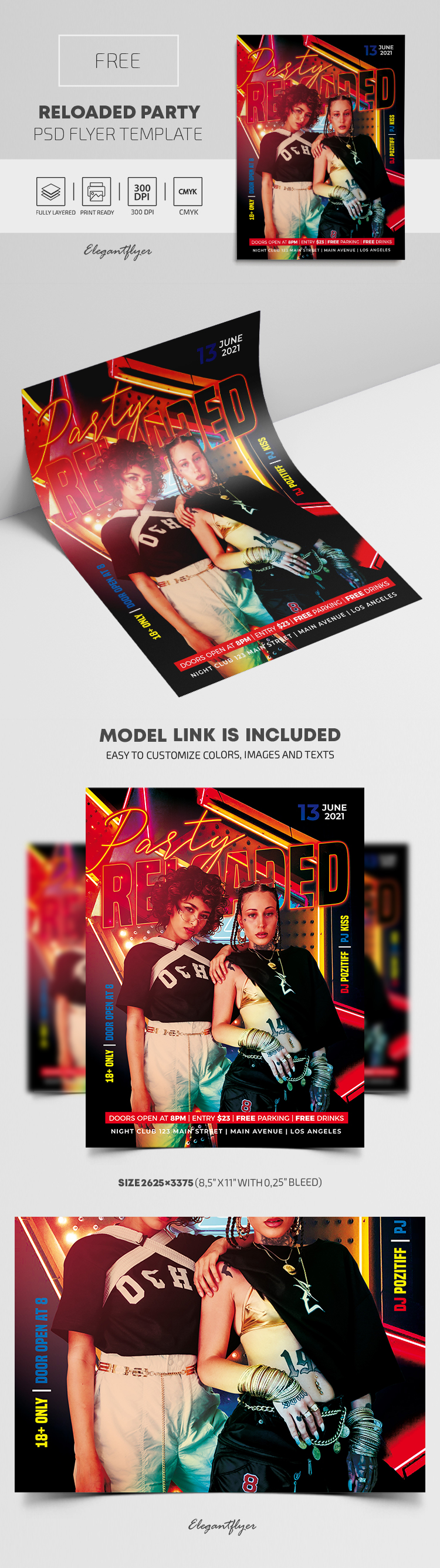 Reloaded Party – Free Flyer PSD Template
