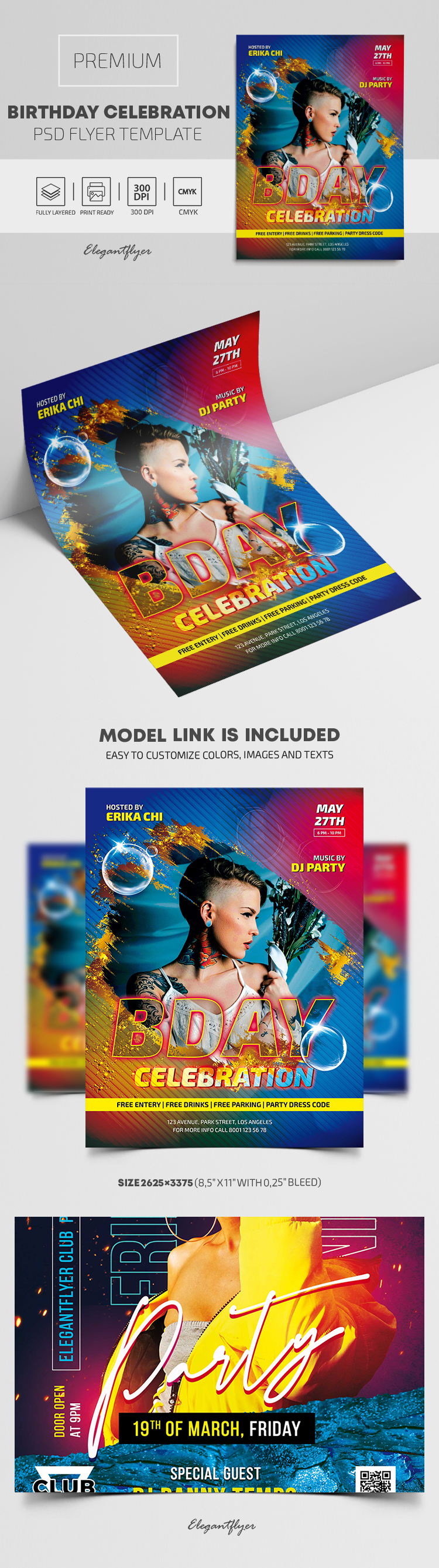Birthday Celebration – Premium PSD Flyer Template