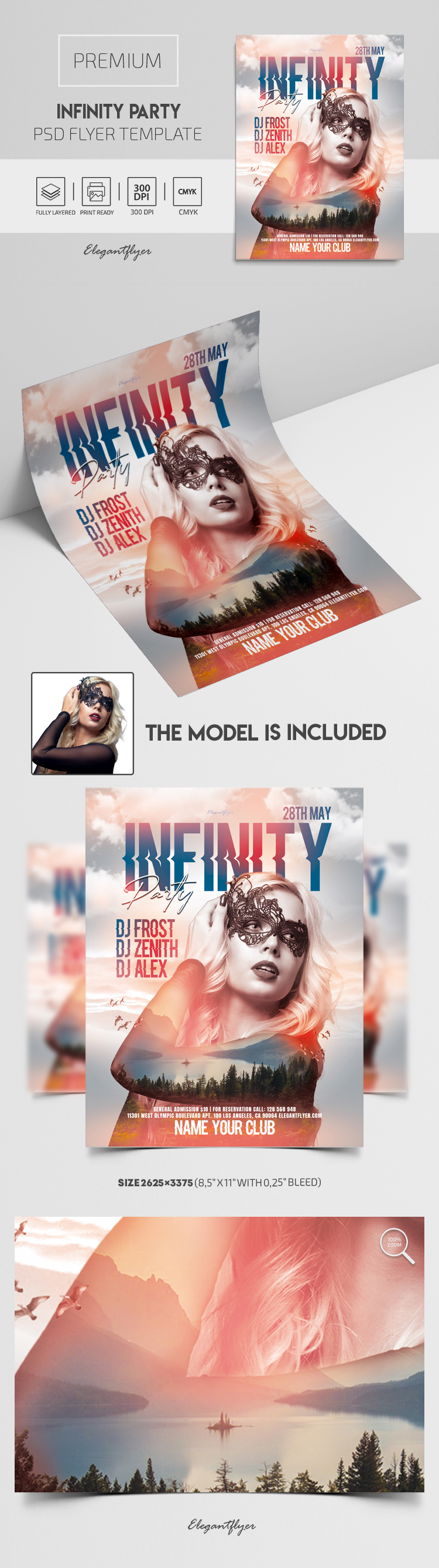 Infinity Party – Flyer PSD Template