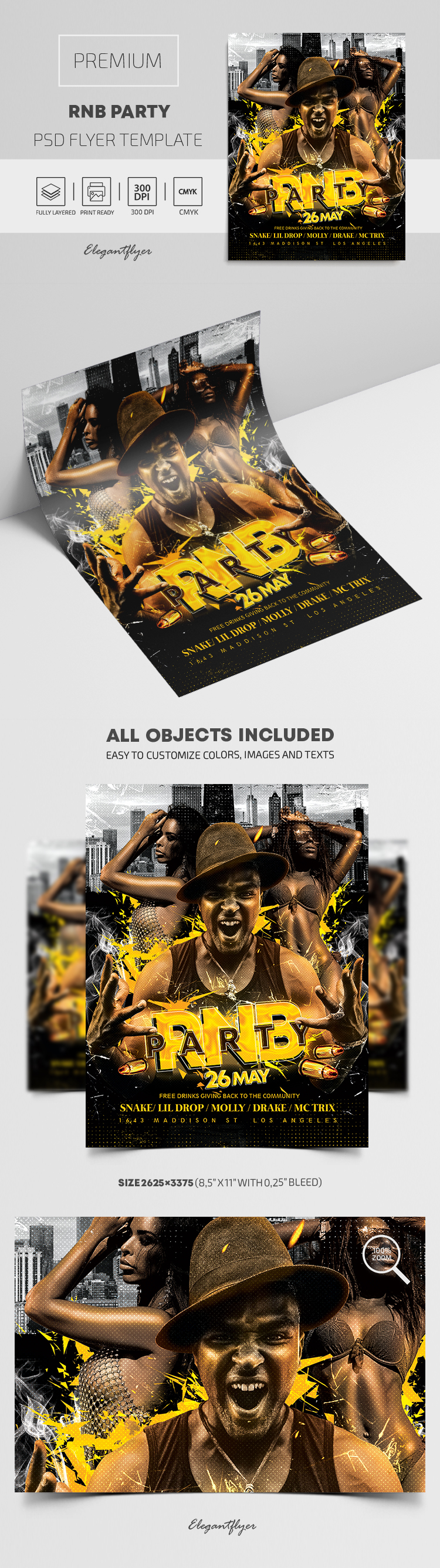 RnB Party – Premium PSD Flyer Template