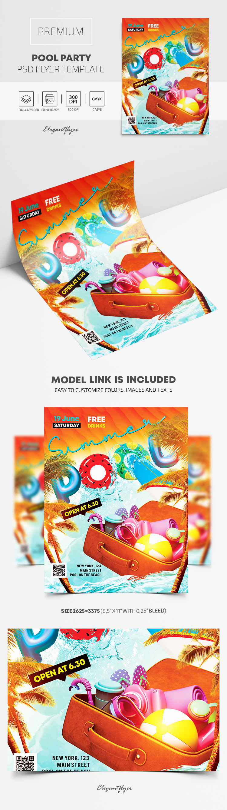 Summer Pool Party – Premium PSD Flyer Template