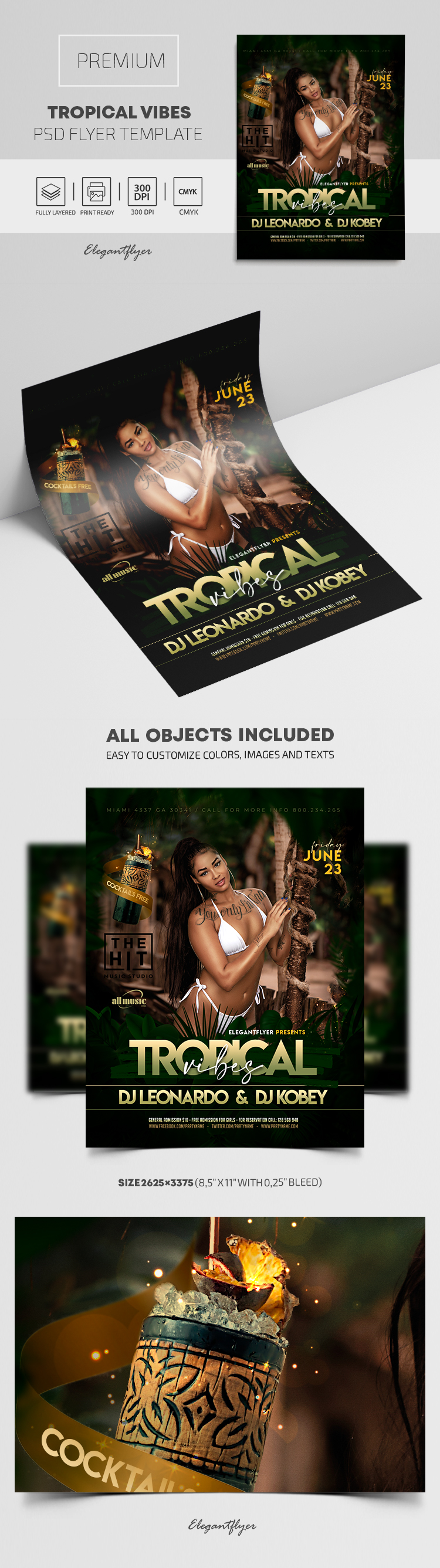 Tropical Vibes – Premium PSD Flyer Template