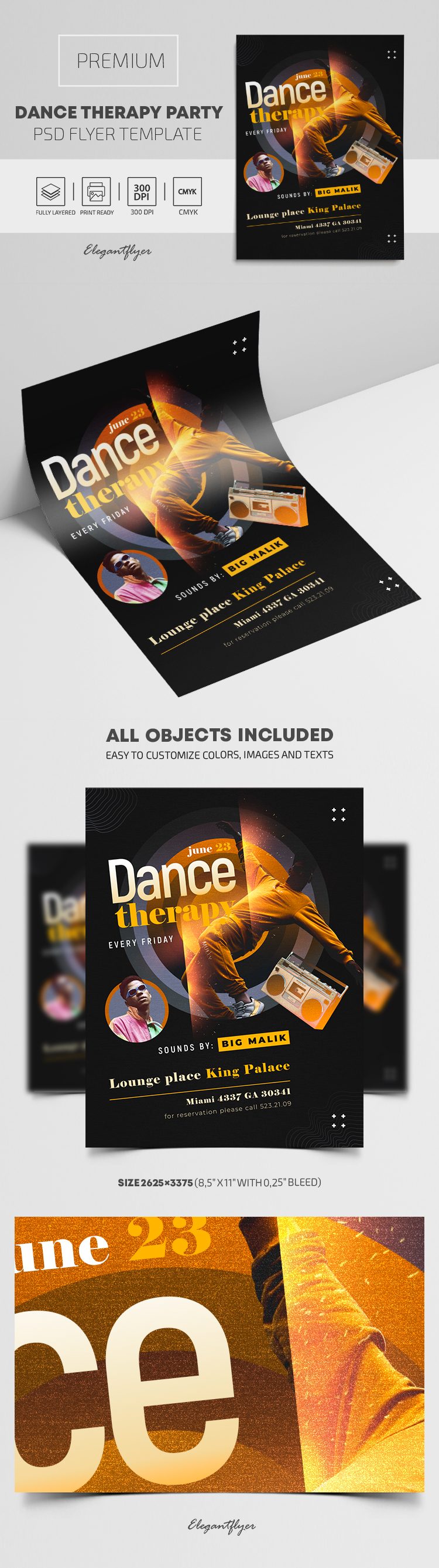 Dance Therapy Party – Premium PSD Flyer Template