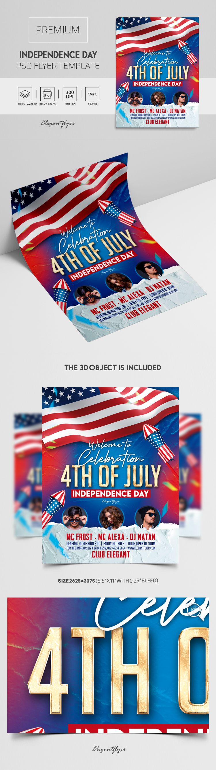 Independence Day – Premium PSD Flyer Template