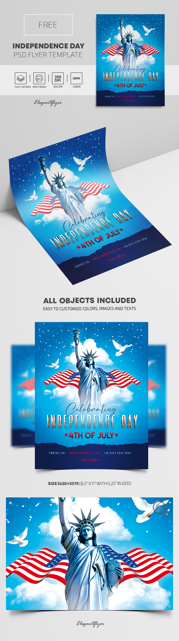 Independence Day – Free Flyer PSD Template