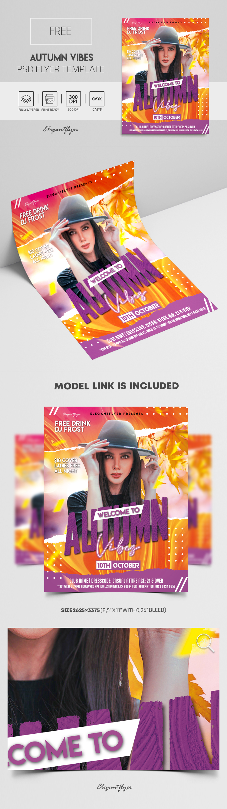 Autumn Vibes – Free Flyer PSD Template