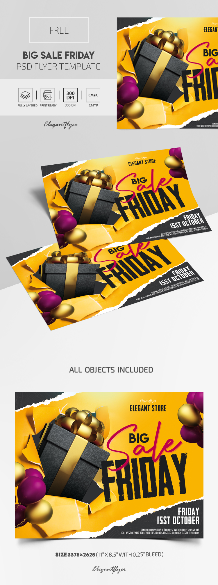Big Sale Friday – Free Flyer PSD Template