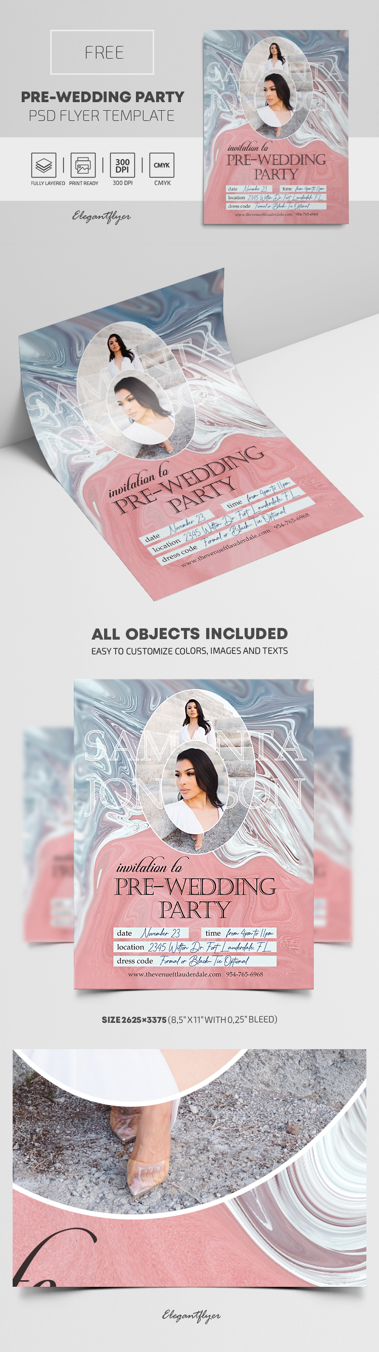 Pre-Wedding Party – Free Flyer PSD Template