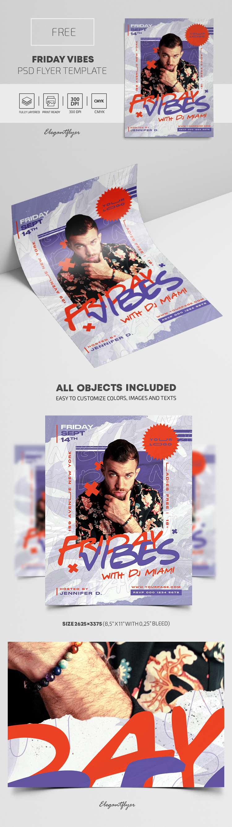 Friday Vibes – Free Flyer PSD Template