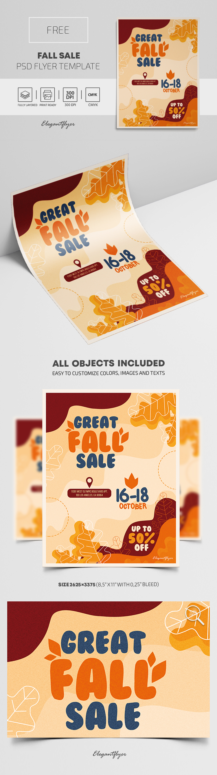 Fall Sale – Free Flyer PSD Template