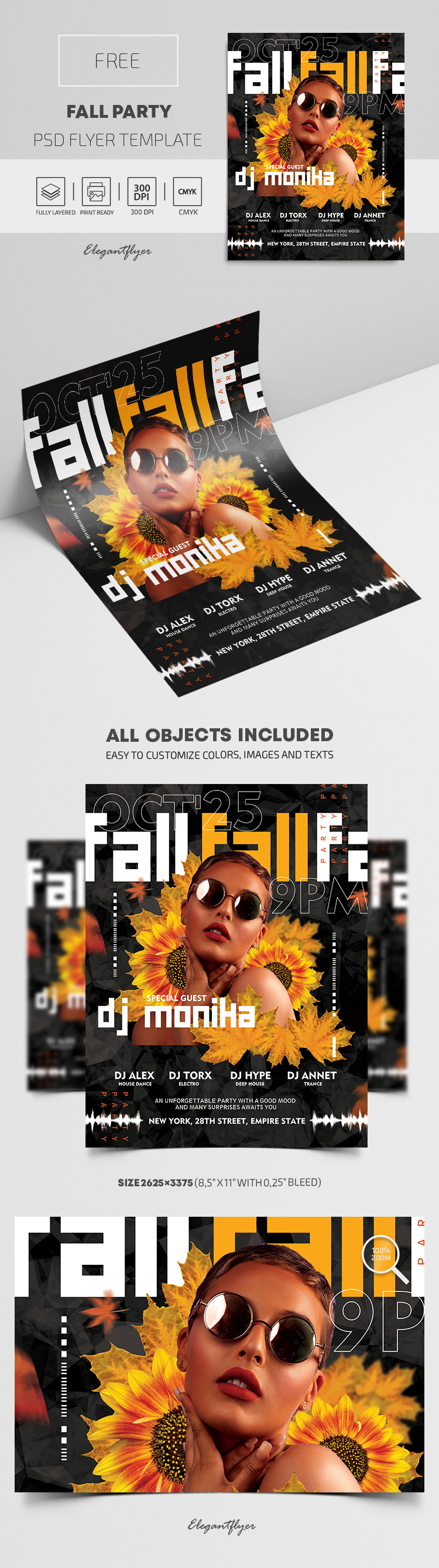 Fall Party – Free Flyer PSD Template