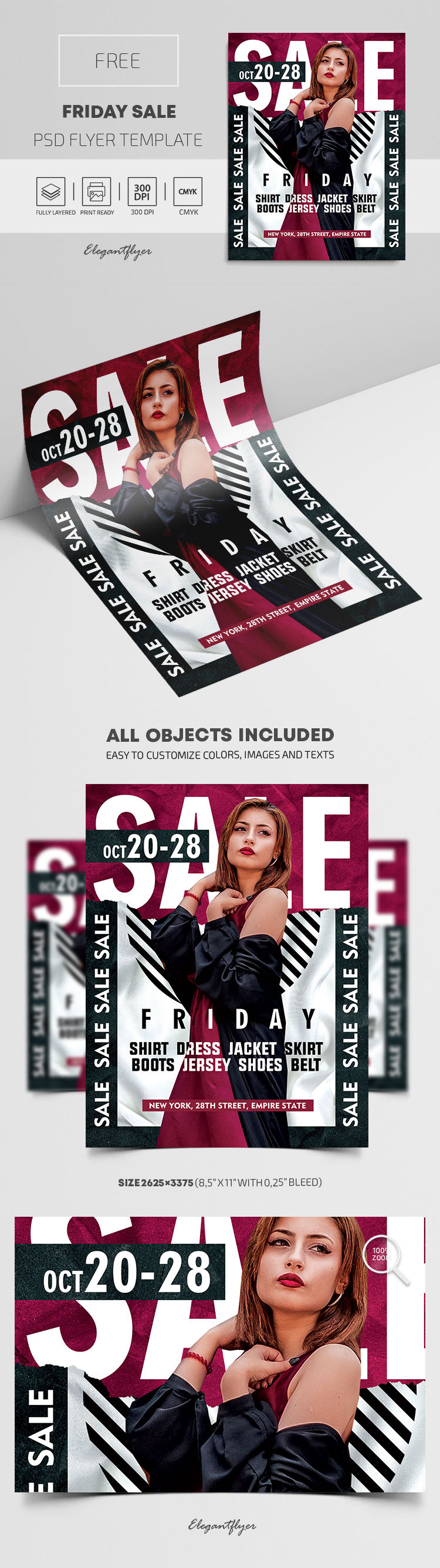 Friday Sale – Free Flyer PSD Template