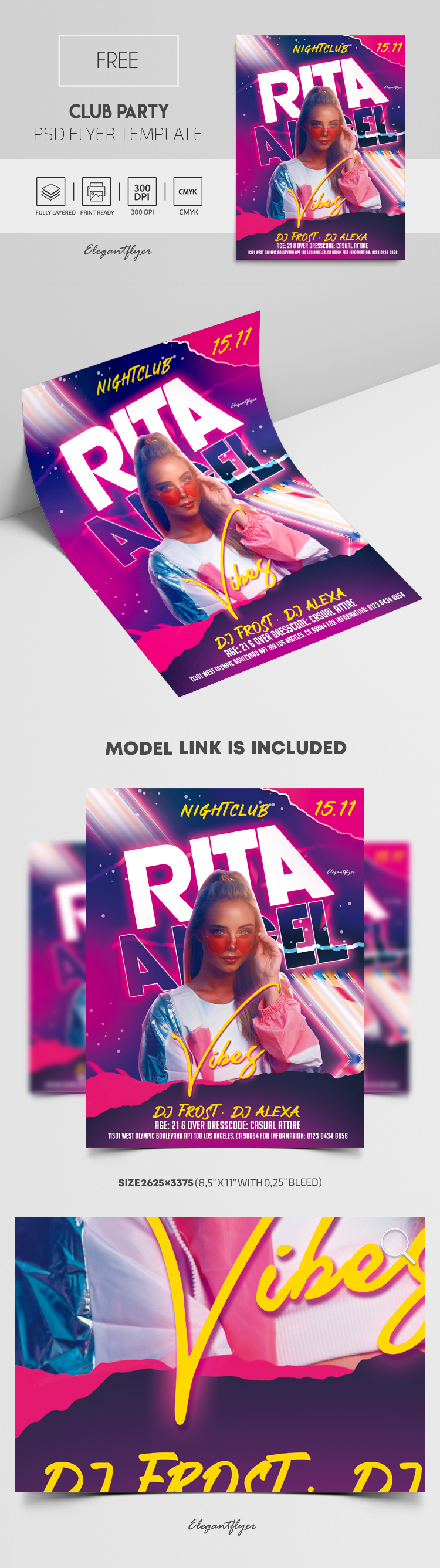 Club Party – Free Flyer PSD Template