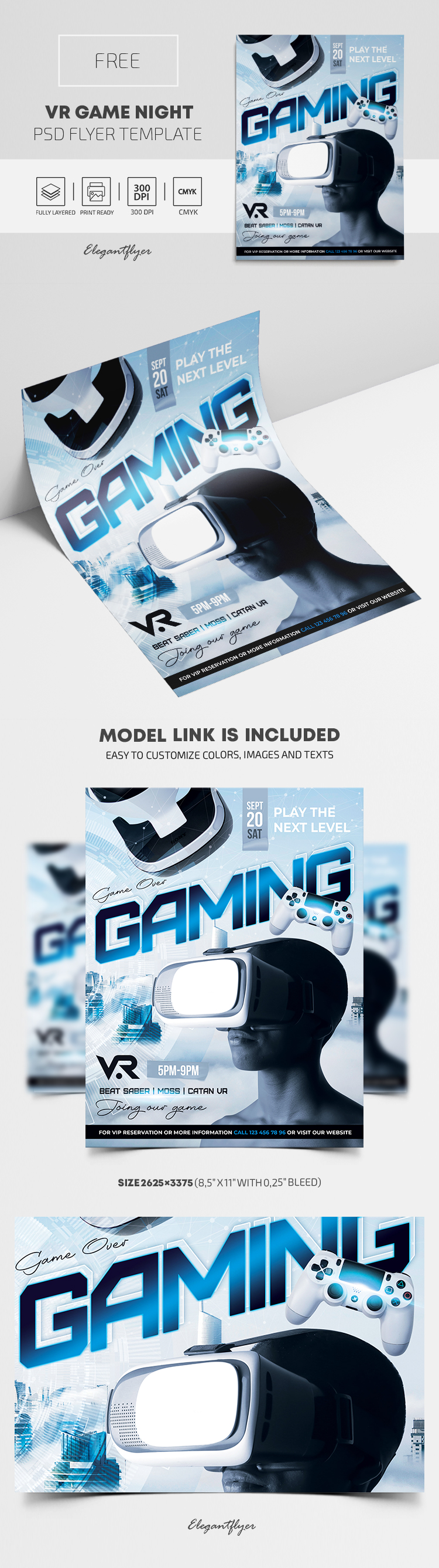 VR Game Night – Free Flyer PSD Template