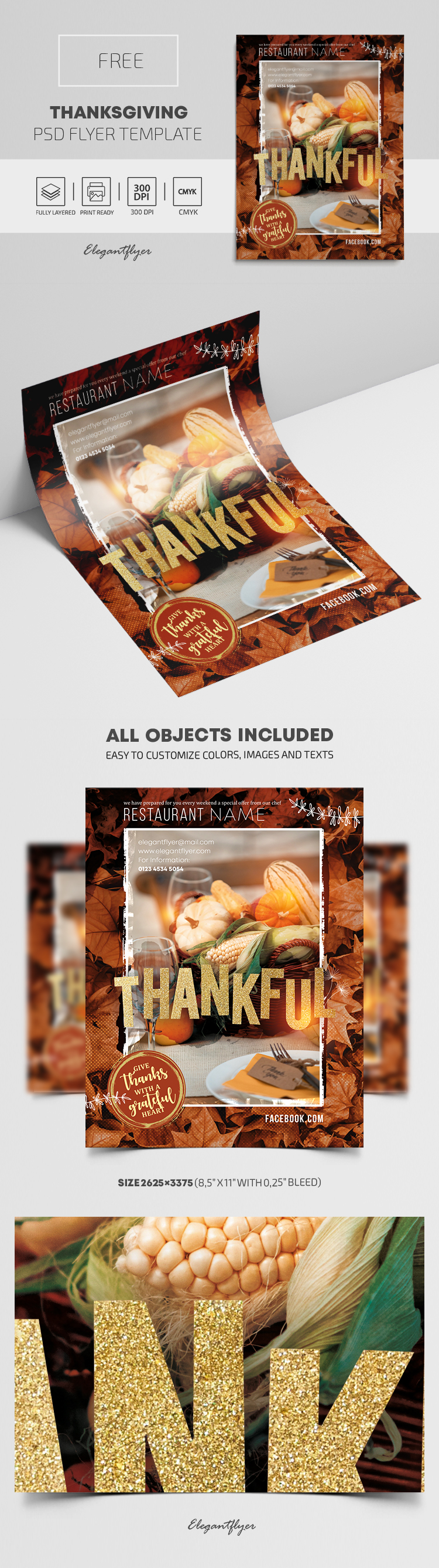 Thanksgiving – Free Flyer PSD Template