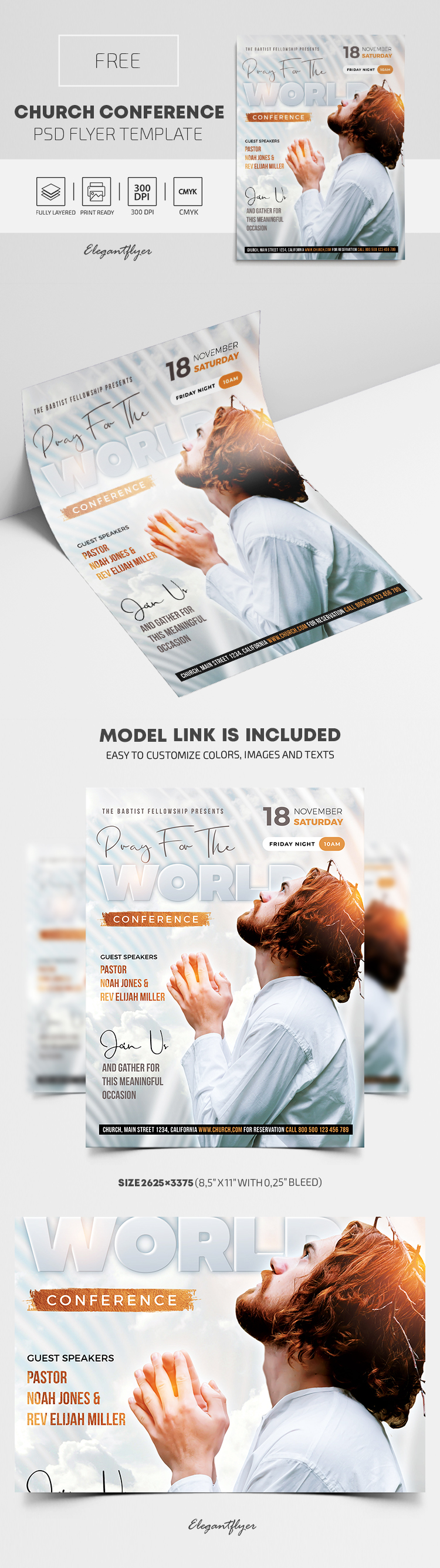 Church Conference – Free Flyer PSD Template