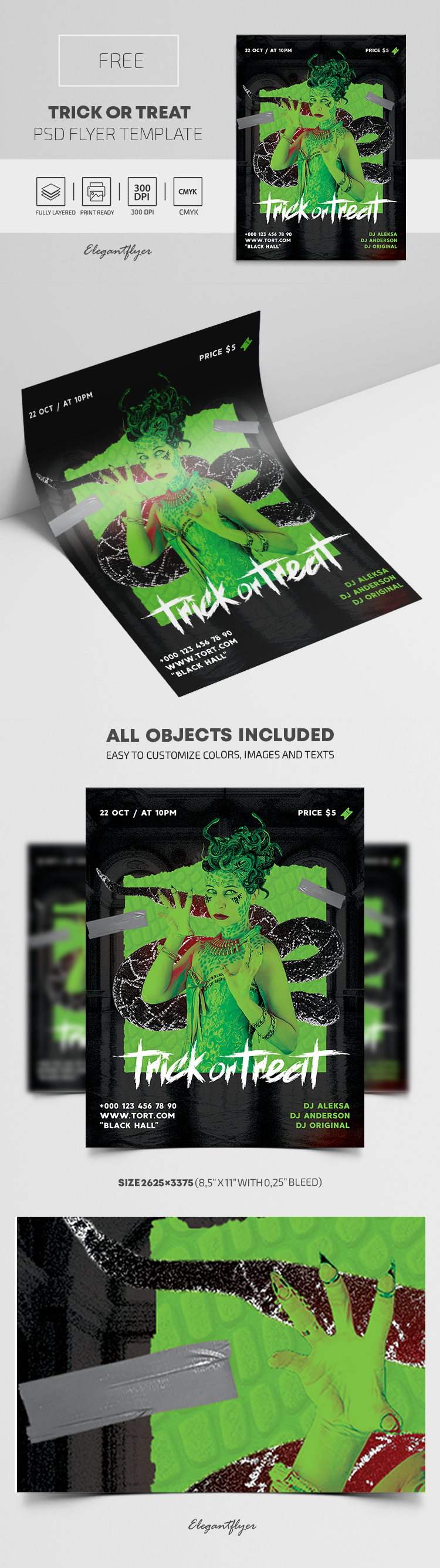 Trick or Treat – Free Flyer PSD Template