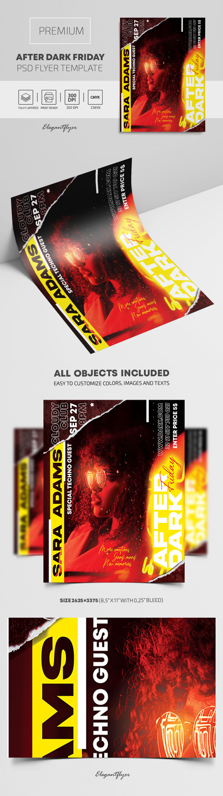 After Dark Friday Party – Premium PSD Flyer Template
