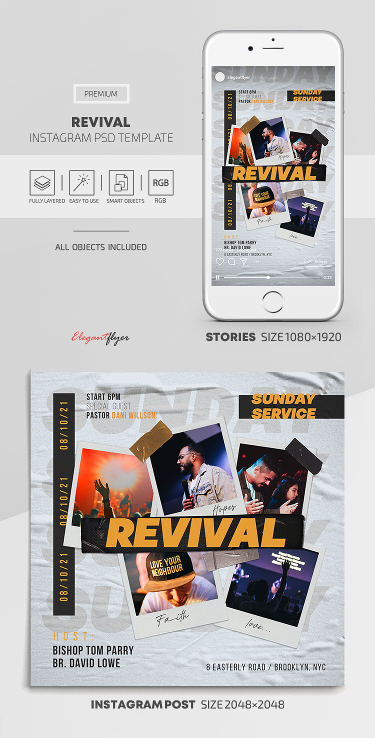 Revival – Instagram Stories Template in PSD + Post Templates