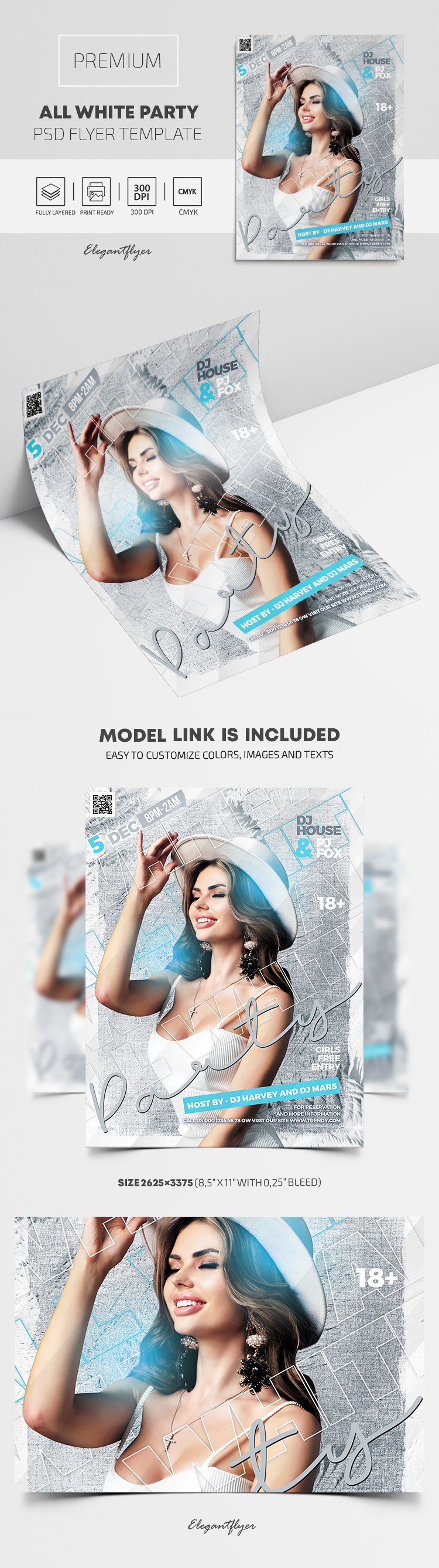 All White Party – Premium PSD Flyer Template